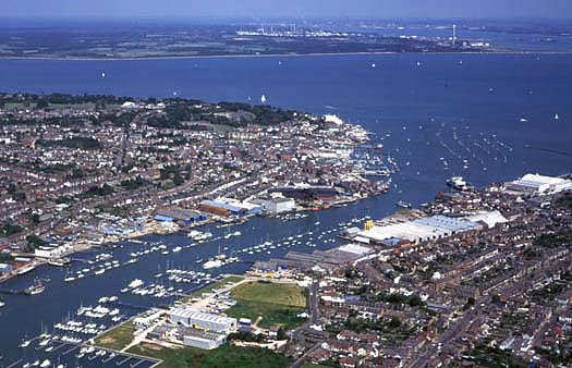 Aerial Photograph of Cowes Harbour
