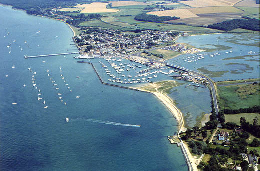 Yarmouth Harbour Aerial shot